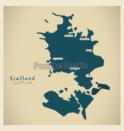 nowoczesne mape sjaelland dk