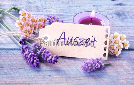 auszeit relaks rustykalny kwiatowy tlo