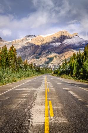 krajobraz widok z drogi na icefields