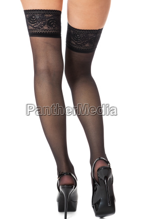 sensual portrait of slim female legs