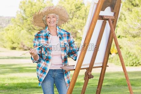 portret starszej kobiety malarstwo plotno w