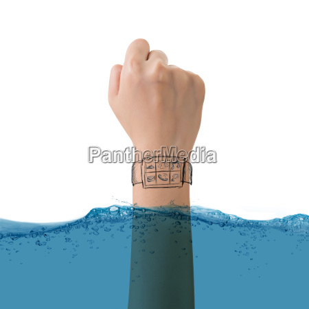 inteligentna koncepcja zegarek wodoodporny