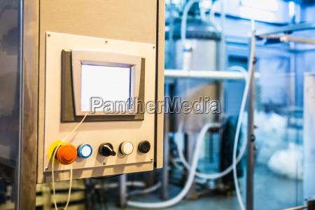 panel sterowania na produkcji
