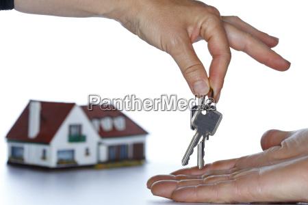 hand transfers the key