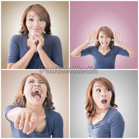 cara de la mujer asiatica