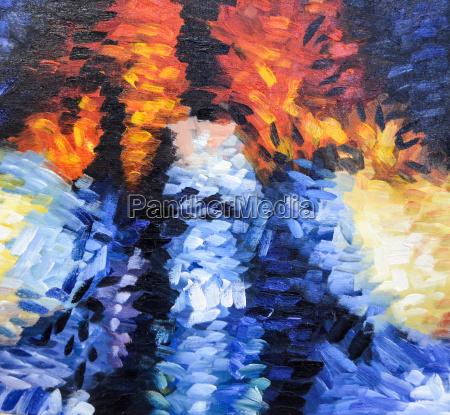 impresjonizm abstrakcyjna struktura malowania