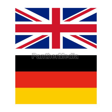 flaga wielkiej brytanii i niemiec