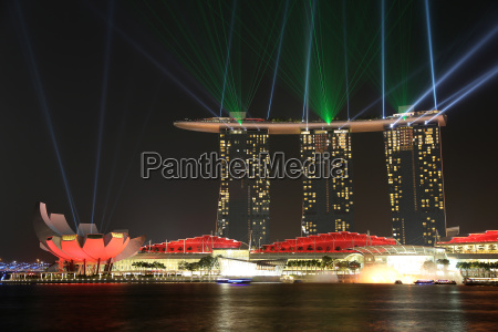 marina bay sands laser