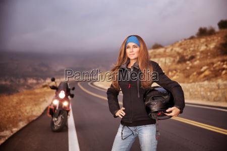 moda rowerzysta dziewczyna