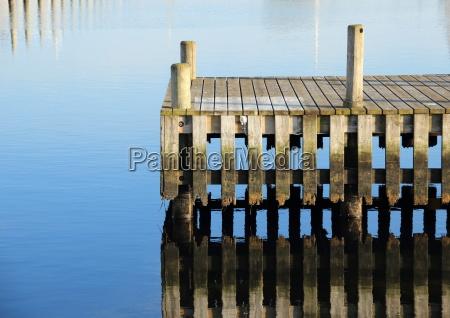 niebieski drewno drewna molo most molo
