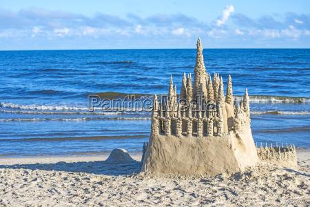 sandcastle na baltyku