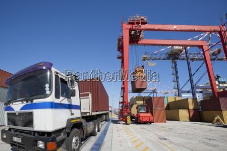 zuraw podnoszenia ladunku kontenerow w portach