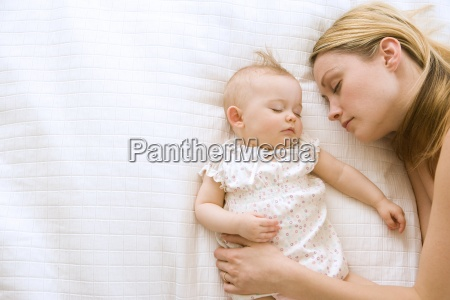 mother and baby girl 9 12