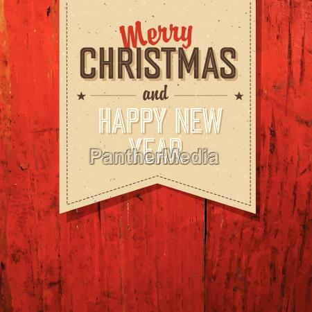 merry christmas tag vintage design na