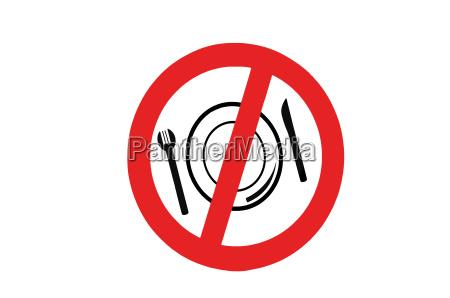 plakat talerz widelec bezprawnie potajemnie nielegalnie