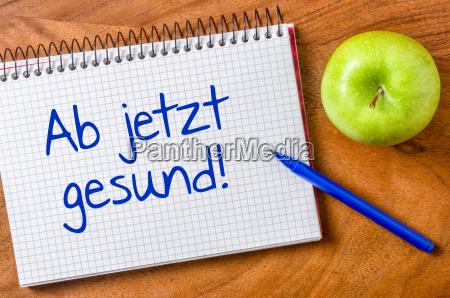 notes biurko zdrowie zdrowia jablka jablko