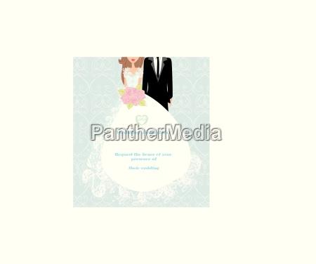 stylish wedding invitation card with vintage