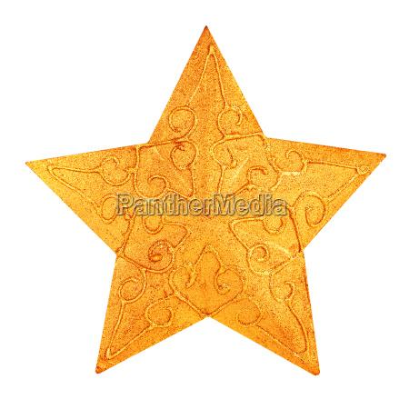Swiateczne dekoracje zlotej gwiazdy