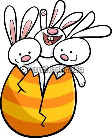 kroliczki wielkanocne jajka z kreskowki