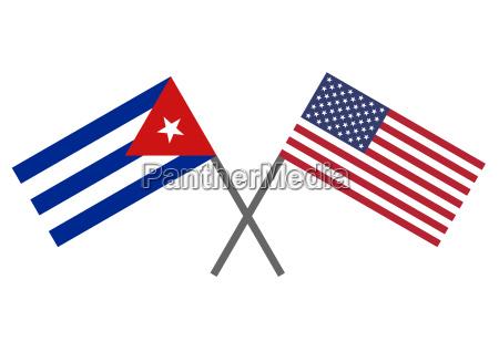 flaga kuby i usa