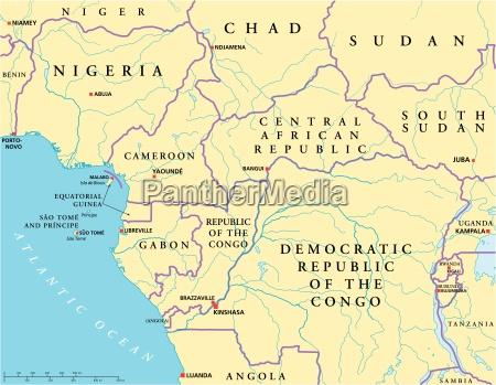 mapa polityczna afryki srodkowo wschodniej