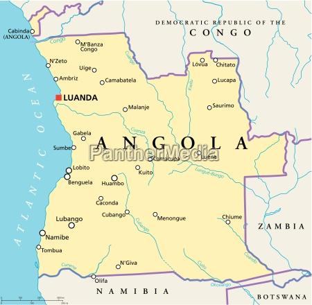 polityczna mapa angoli