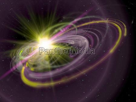 promienie sloneczne w kosmosie
