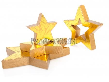 zlote gwiazdki christmas izolowane na bialym