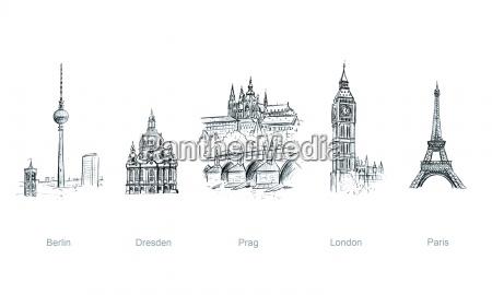 miastach europejskich