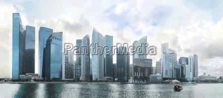 panorama singapuru downtown