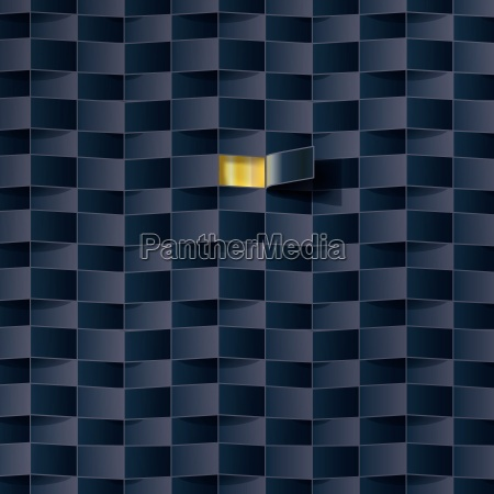 otwor w czarnym wzorze
