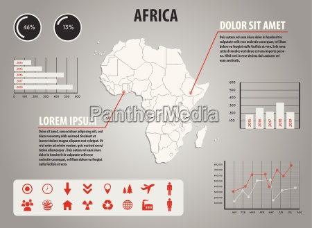 map of africa infographic illustration