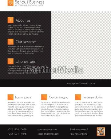 corporate business flyer template orange