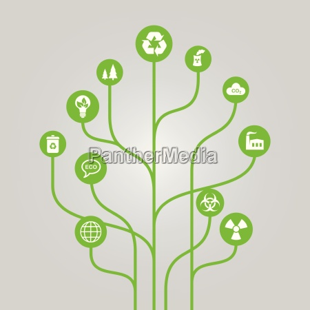 abstract icon tree illustration environment