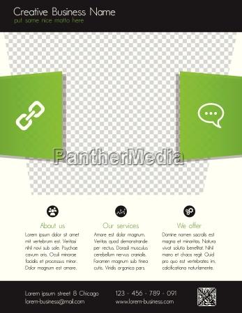 corporate business flyer template modern