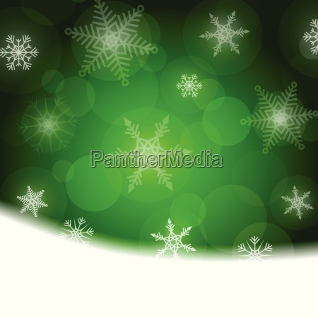 christmas background green with white
