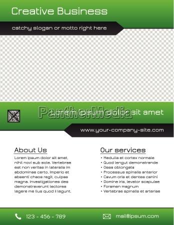 business multipurpose flyer template green