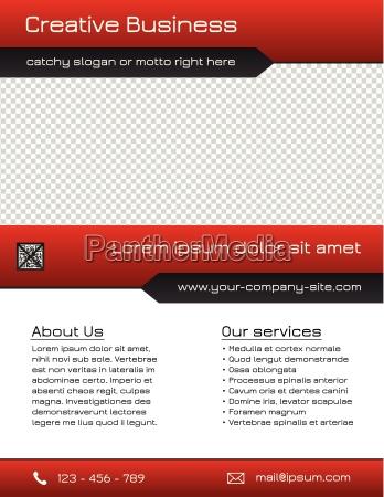 wielozadaniowy biznes szablon flyer czerwony