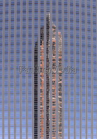 reflection of the trade fair tower