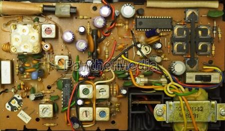 antena platine druty kondensatory przelaczniki