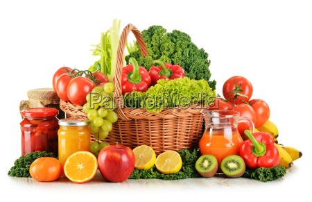kompozycja z roznorodnych organicznych warzyw i
