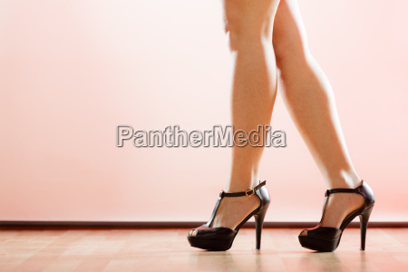 high heels shoes on sexy female