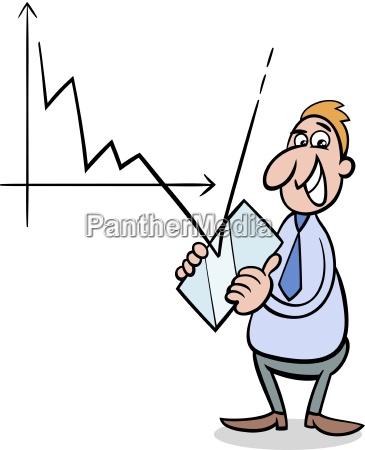 kryzys ekonomiczny ilustracja kreskowka