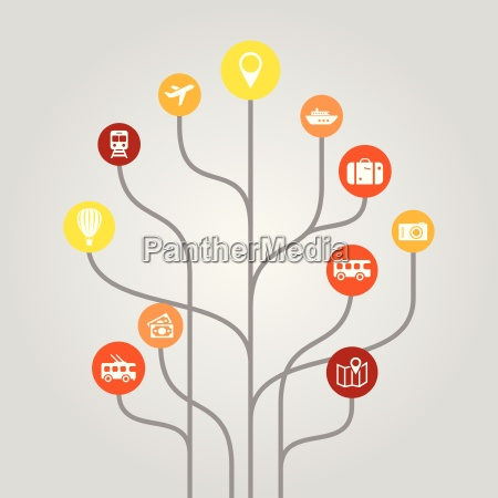abstract icon tree illustration tourism