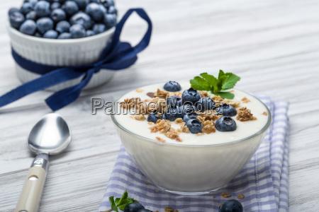 blueberry jogurt z musli