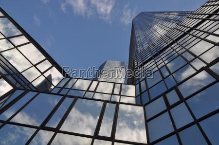 glass facade in frankfurt