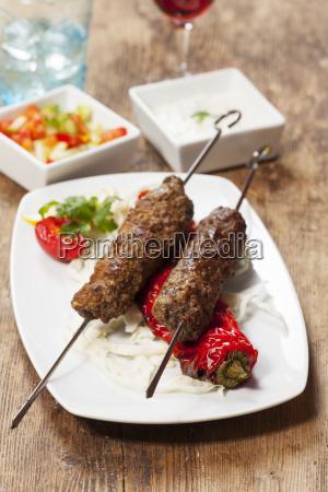 kebab szaszlykow z papryki z grilla