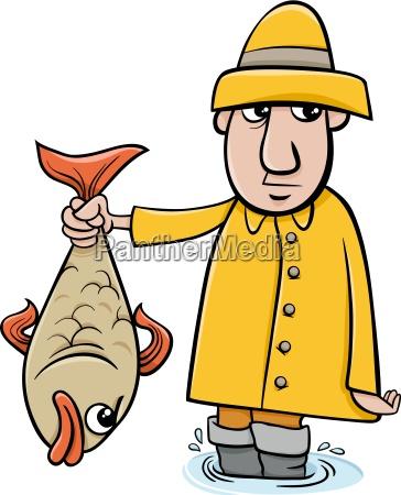 wedkarz z ryb kreskowki