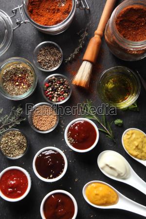 rozne seed rodzaj przyprawy i sosy