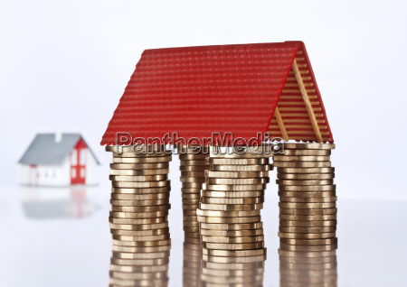 house roof on coins